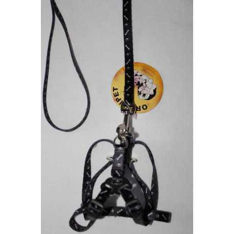 Nylon leash with harness 1x120cm / 1x25-35 cm