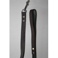 Patterned leather leash 2x120cm