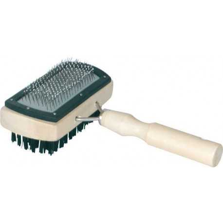 Double-sided wooden brush square