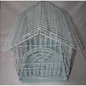 Metal cage on wheels white 50x36x46cm