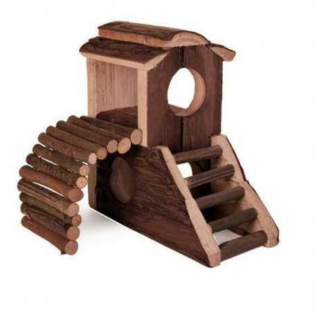 Dřevěný domeček Vania 17x17x10cm