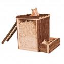 Dřevěný domečekTower 20x20x16cm
