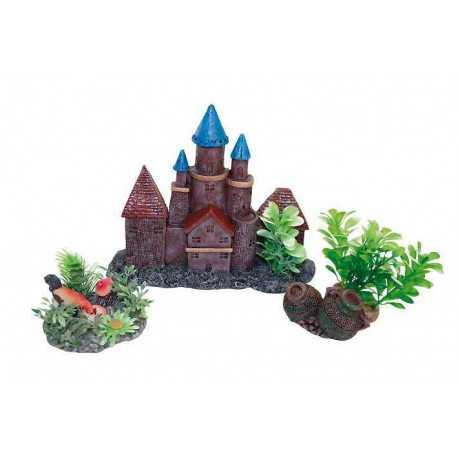 Dekorace hrad s rostlinami - set