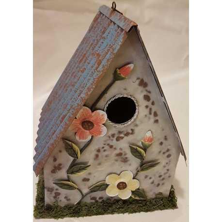 Plechový domček pre vtáky D