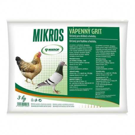 Limestone grit for poultry and pigeons 3kg