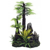 Fiji palm on rock 15,5x11x22,5cm