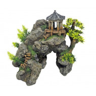 Japanese castle on a rock 24x20x23cm