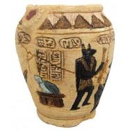 Egyptská váza s otvory 11,7x11,5x13,5cm