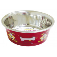 Bowl stainless steel anti-skid WOOF