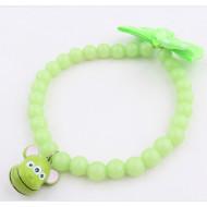 Korálkový náhrdelník zelený 1x28cm