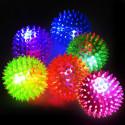 Svítící míček s ostny 6,5cm