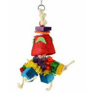 Rope toy for parrots 28x12cm