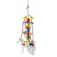 Lanová hračka pro papoušky 30x10cm
