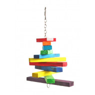 Wooden toy for parrots 28x15cm
