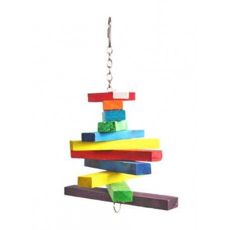 Wooden toy for parrots 28x15cm
