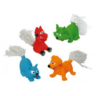 C6098591 Animals rubber with tails 8 cm