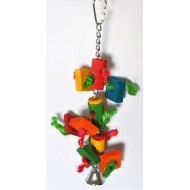 Rope toy for parrots 27x6cm