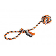 Rope tug with ball 9cm, 58cm/300g
