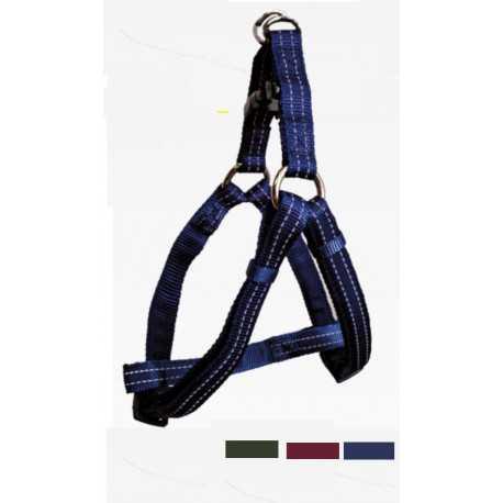Reflective nylon harness turquoise