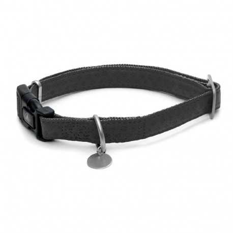Mylord black leather collar