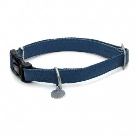 Mylord dark blue leather collar