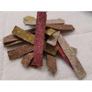 Plátky z drcené buvolí kůže barevná 12,5x2,3cm