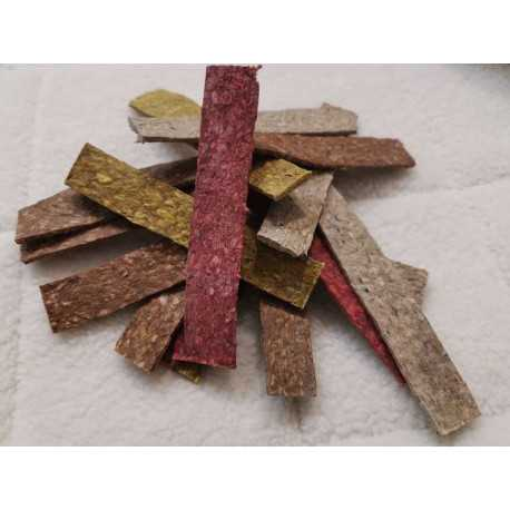 Slices of crushed buffalo leather color 12.5x2.3 cm