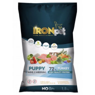 IRONpet Dog Puppy Mini & Medium Turkey 1,5kg