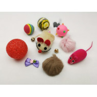 Set of toys for a cat