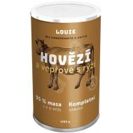 Louie Kompletní krmivo - hovězí a vepřové (95%) s rýží (5%) 1200 g