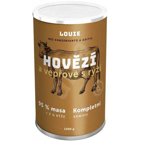 Louie Complete feed - beef and pork (95%) with rice (5%) 1200 g