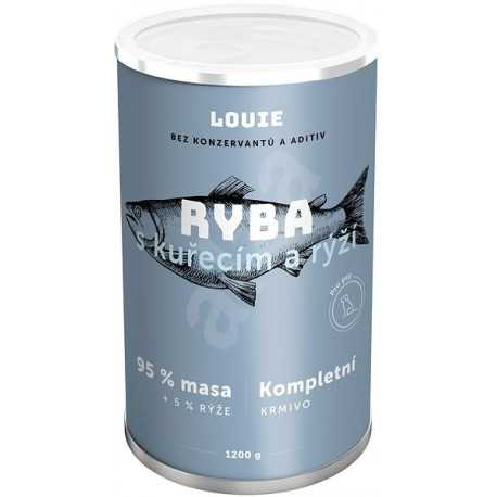 Louie Complete feed - fish with chicken (95%) with rice (5%) 1200 g