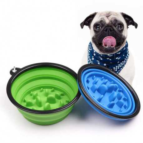 Travel silicone bowl against swallowing 350ml