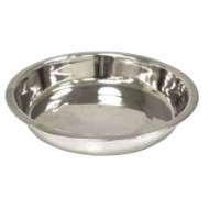 Stainless shallow bowl 26x5cm