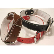 Leather collars lined wide