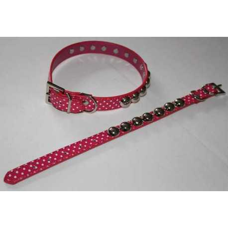 Collar decorated with synthetic