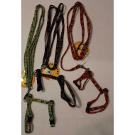 Nylon leash with harness 1x120cm / 1x15-25cm