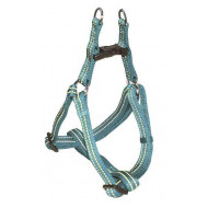 Reflective nylon harness turquoise