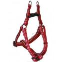 Reflective nylon harness burgundy