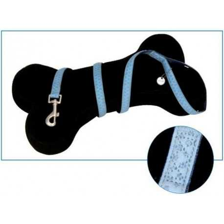 Leather leash blue 1x120cm