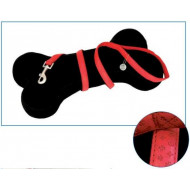 Leather leash red 1x120cm